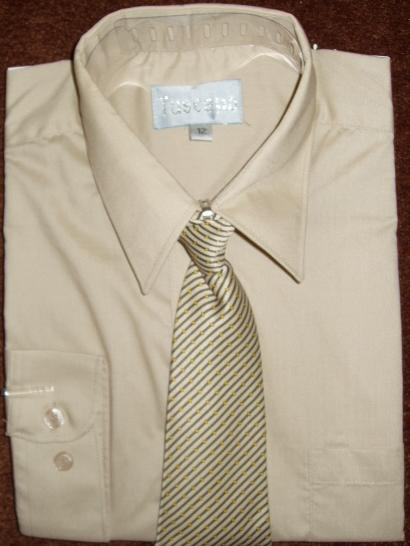 Boys Khaki Dress Shirt