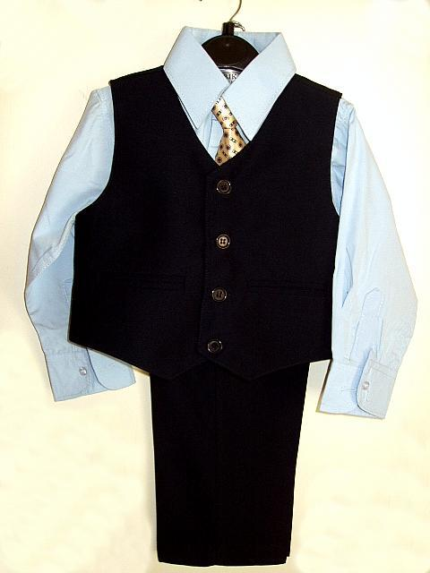 cdda54e41 Baby and Toddler Boys Navy Blue Vest Suit