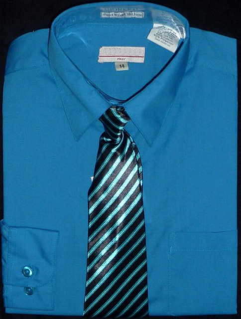 boys turquoise blue dress shirt