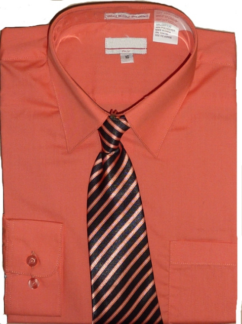 Boys Coral Dress Shirt