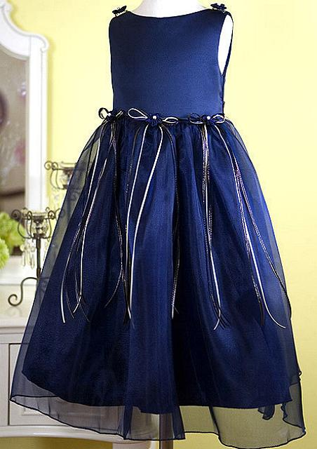 Navy Blue Girls Dress