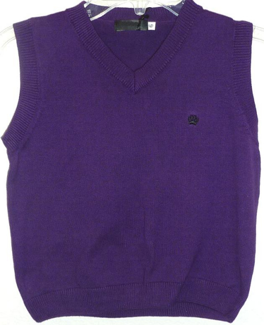 Boys Purple Sweater Vest