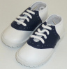 Boys Two Tone Navy and White Dress Shoes