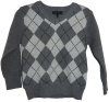 Boys Grey Diamond Print Sweater