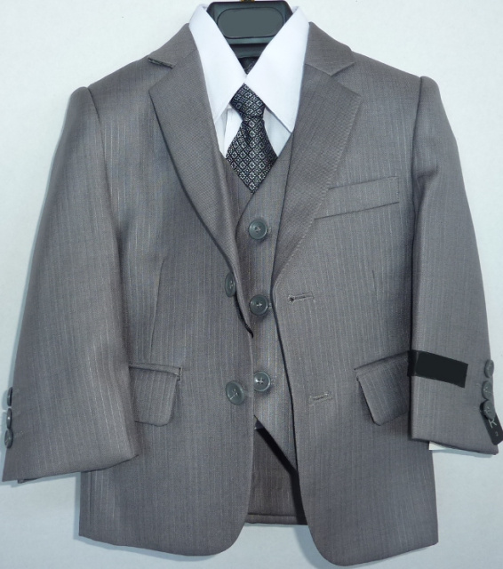 Toddlers Deluxe Light Gray Suit