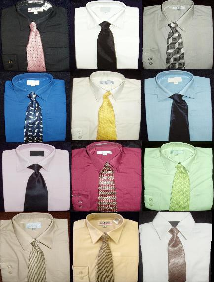 e1a7b1114c31f3 These boys long sleeve dress shirts are perfect when a suit or tux is just  too much, but you still need a dressed up boy. Ties may vary in color or  pattern ...