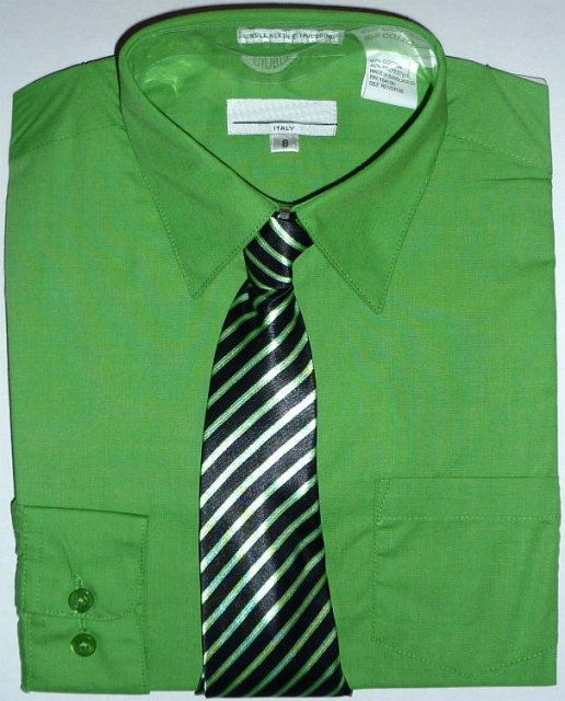 new style 46a92 be2a5 Boys Green Dress Shirt