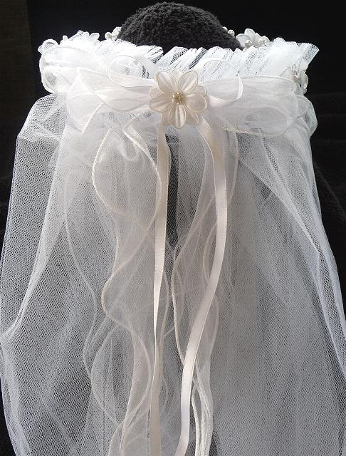 Girls Veil With Flowers