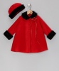 Girls Red Fleece Coat